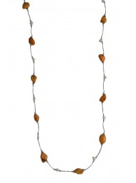 HOWLITE & PEARL NECKLACE