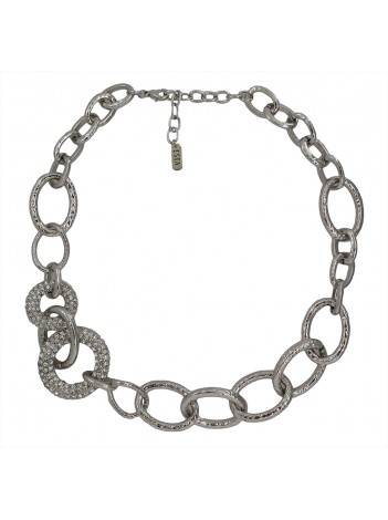 METALLIC CHAIN NECKLACE