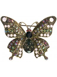 CRYSTAL BUTTERFLY BROOCH