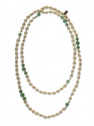 PEARL & AVENTURINE NECKLACE