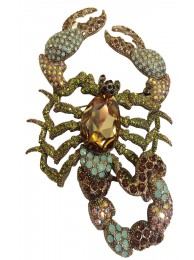 D-CRYSTAL SCORPION BROOCH