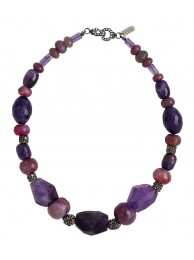 AMETHYST & AGATE NECKLACE