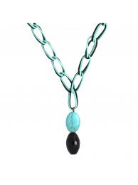 ONYX & HOWLITE NECKLACE