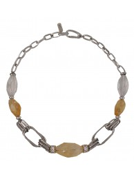 CITRINE & CRYSTAL NECKLACE