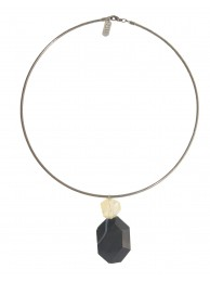 ONYX & CITRINE PENDANT NECKLACE
