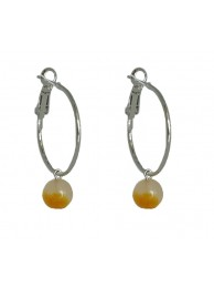 YELLOW JADE EARRING