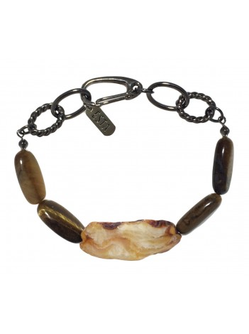 AGATE & TIGER-EYE BRACELET